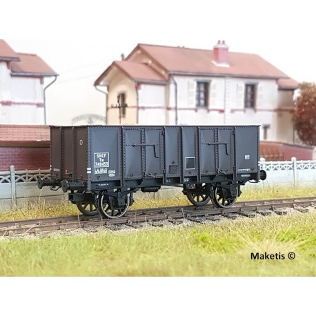 Wagon tombereau OCEM 29 Brun EP III SNCF HO REE WB-484 - Maketis