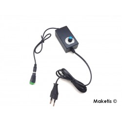 Variable power supply 220V/ 1-12V DC 2A and screw connector SO-6