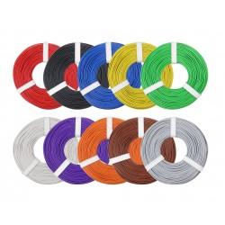 Câblage souple multibrins 0,25 mm² bobine de 10 m Donau - Maketis