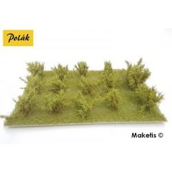 Grands buissons 25 mm vert clair flocage très fin (15 pcs) Polak 9202- Maketis
