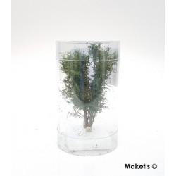 Arbre multi-troncs 8 à 10 cm vert chêne flocage très fin Polak 9515- Maketis