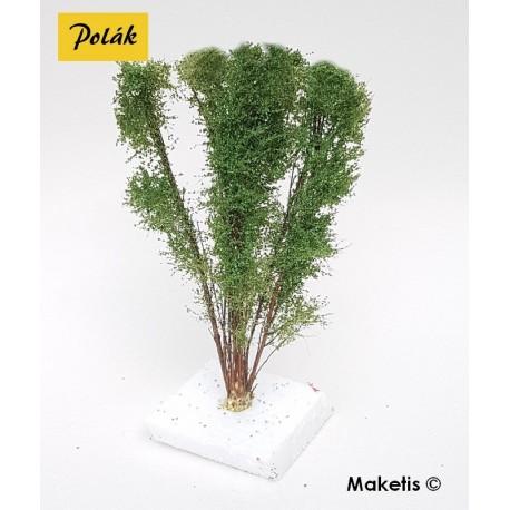 Arbre multi-troncs 12 à 13 cm vert printemps flocage très fin Polak 9521- Maketis