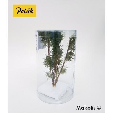 Arbre multi-troncs 12 à 13 cm vert chêne flocage très fin Polak 9525- Maketis
