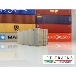 Container 20´DV type Seaco blanc (sans impressions) HO PT TRAINS 802002- Maketis
