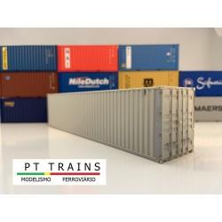 Container 40´ HC type Seaco blanc (sans impressions) HO PT TRAINS 804002- Maketis