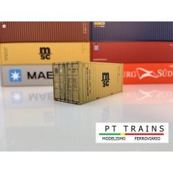 Container 20´DV MSC (MSCU6356994) HO PT TRAINS 820001- Maketis