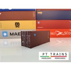 Container 20´DV BLUE SKY (BSIU2963080) HO PT TRAINS 820002- Maketis