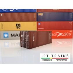 Container 20´DV TEX (TEMU4317468) HO PT TRAINS 820008- Maketis
