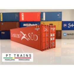 Container 40´ HC HAMBURG SÜD (SUDU5806810) HO PT TRAINS 840007- Maketis
