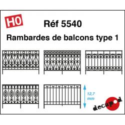Balcony railings type 1 H0 Decapod 5540