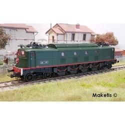 Locomotive électrique 2D2 5401 SNCF verte foncée Ep III HO Digital son Jouef HJ2367S - Maketis