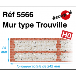 Mur normand type Trouville [HO]