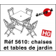 Garden chairs and tables (12 pcs) H0 Decapod 5610 - Maketis