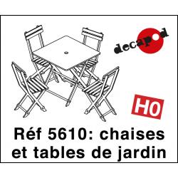 Chaises et tables de jardin (12 pcs) HO Decapod 5610