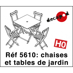 Garden chairs and tables (12 pcs) H0 Decapod 5610