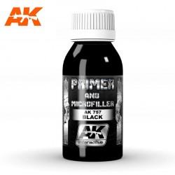 Apprêt haute qualité microchargé Noir 100 ml AK Interactive AK-757