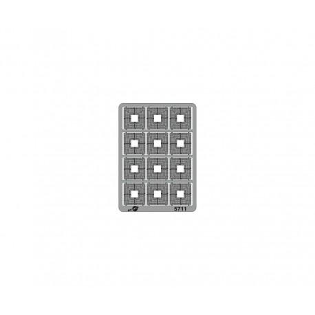 Grilles d'arbre carrées [HO]