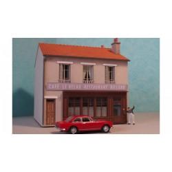 Maison de ville étroite R+1 - HO - Cités Miniatures BV-036-HO-M