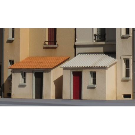 Appentis d'immeuble toit en tuiles - Echelle HO Cités-Miniatures ED-023-HOT