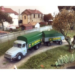 Camion Willeme Bâché + remorque bâchée ENERGOL HO REE CB-107