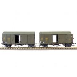 Set de 2 wagons couverts NMBS Oppeln vert Ep III HO Exact-Train EX20128- Maketis