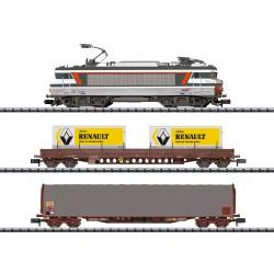 Coffret de départ digital avec locomotive électrique BB 22000 multiservices et 2 wagons de marchandises Trix 11142