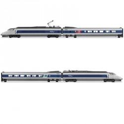 Coffret TGV Sud-Est 4 éléments Bleu et Gris SNCF Ep VI Digital son HO Jouef HJ2356S - Maketis