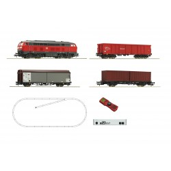 Coffret Digital Z21 Roco HO loco diesel 218 + 3 wagons DB Ep VI 51312 - Maketis