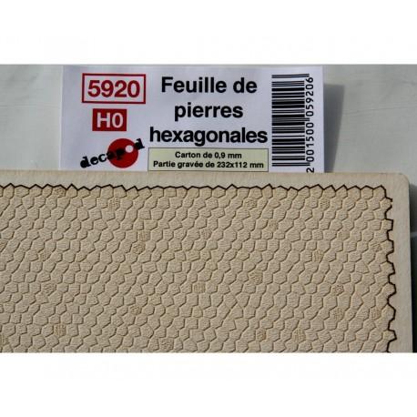 Feuilles de pierres hexagonales [HO]