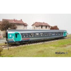 Voiture Corail Vtu Aqualys 2ème classe SNCF Ep VI HO PIKO 97093