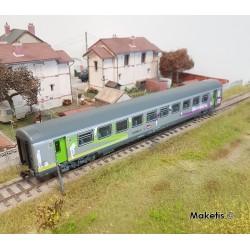Voitures Corail VTU Intercités 2ème classe SNCF Ep VI HO PIKO 97092- Maketis