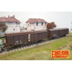 Set de 2 wagons couverts DB Express Gbqss-z Ep V HO Exact-Train EX20463 - Maketis