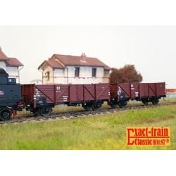Set de 2 wagons citernes DB 2er Set 24m3 Uedinger Kesselwagen ARAL Ep IIIb HO Exact-Train EX20508- Maketis