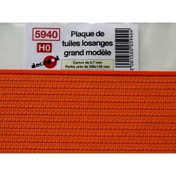 Plaque de tuiles losanges grand modèle [HO]
