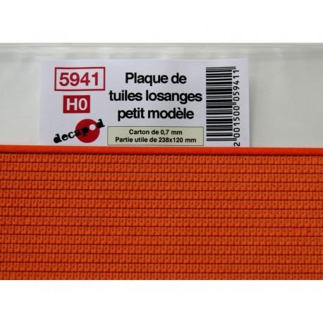 Plaque de tuiles losanges petit modèle [HO]