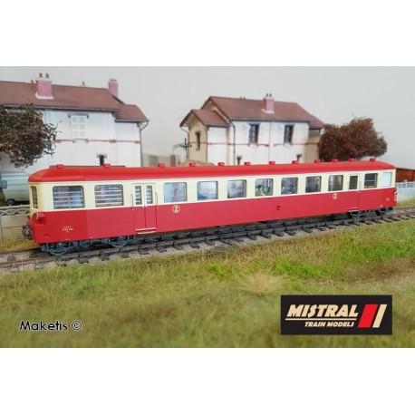 Remorque autorail XR 6012 dépôt d'Avignon Ep III HO Digital Mistral Train 27-02-G002