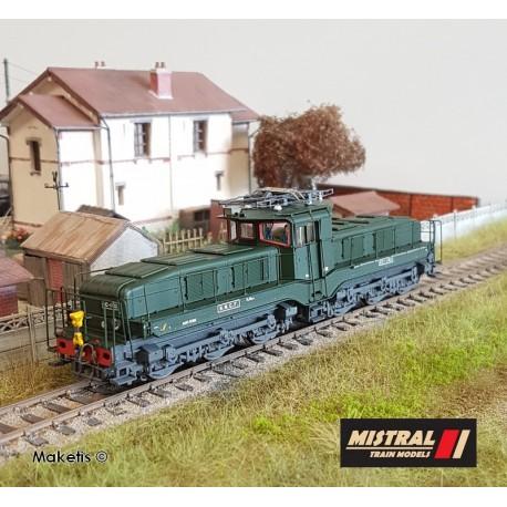 Locomotive CC 1102 Verte dépôt de Tours Ep IIId HO Digital Son Mistral Train 22-03-G002