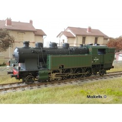 Locomotive à vapeur 141 TA 318 SNCF verte et noire Ep III HO Digital son Jouef HJ2377S - Maketis