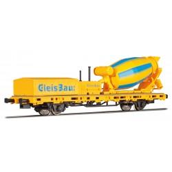 Wagon de travaux avec bétonnière motorisée HO Viessmann 2624