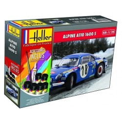 Alpine A110 (1600) avec accessoires 1/24 Heller 56745 - Maketis