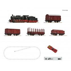 Coffret Digital Z21 Roco HO Loco vapeur BR057 et 4 wagons DB Ep IV 51318 - Maketis