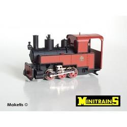 Locomotive vapeur 030 T Decauville Progrès rouge H0e Minitrains 1082 - Maketis