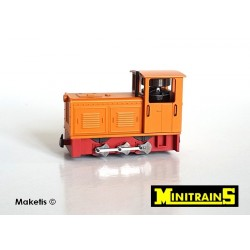 Locotracteur diesel Ns2f orange H0e Minitrains 2024 - Maketis
