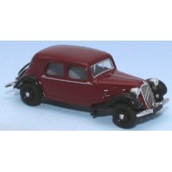 Citroën Traction 11A 1935 rouge excelsior et noire HO SAI 6164 - Maketis