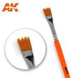 Brosse plate en dents de scie pour trainées et coulures AK Interactive AK576 - Maketis