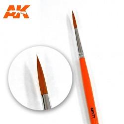 Brosse ronde à poils long pour Wash et Lavis AK Interactive AK577 - Maketis