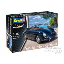 Porsche 356 C Cabriolet 1/16 Revell 07043 - Maketis