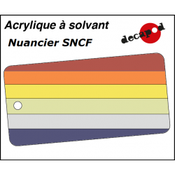 Decapod Acrylic Solvent Paint - SNCF colour chart Decapod 8010 - Maketis