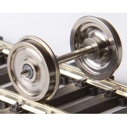 Essieu plein 2.2mm ,11mm ,Fleischmann 24.0mm 2 pièces HO Weinert 97430