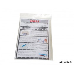 Feuille de papier transparent A4 pour décalcomanies Holi HOD121 - Maketis